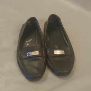 Coach Fredrica black leather loafers size 10